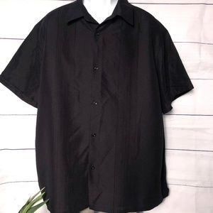 Claiborne No Tuck SS Button-Front Shirt - XXL
